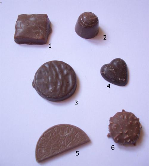 Chokladbitar från Godisprinsen