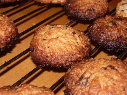 Recept på cookies med mörk choklad