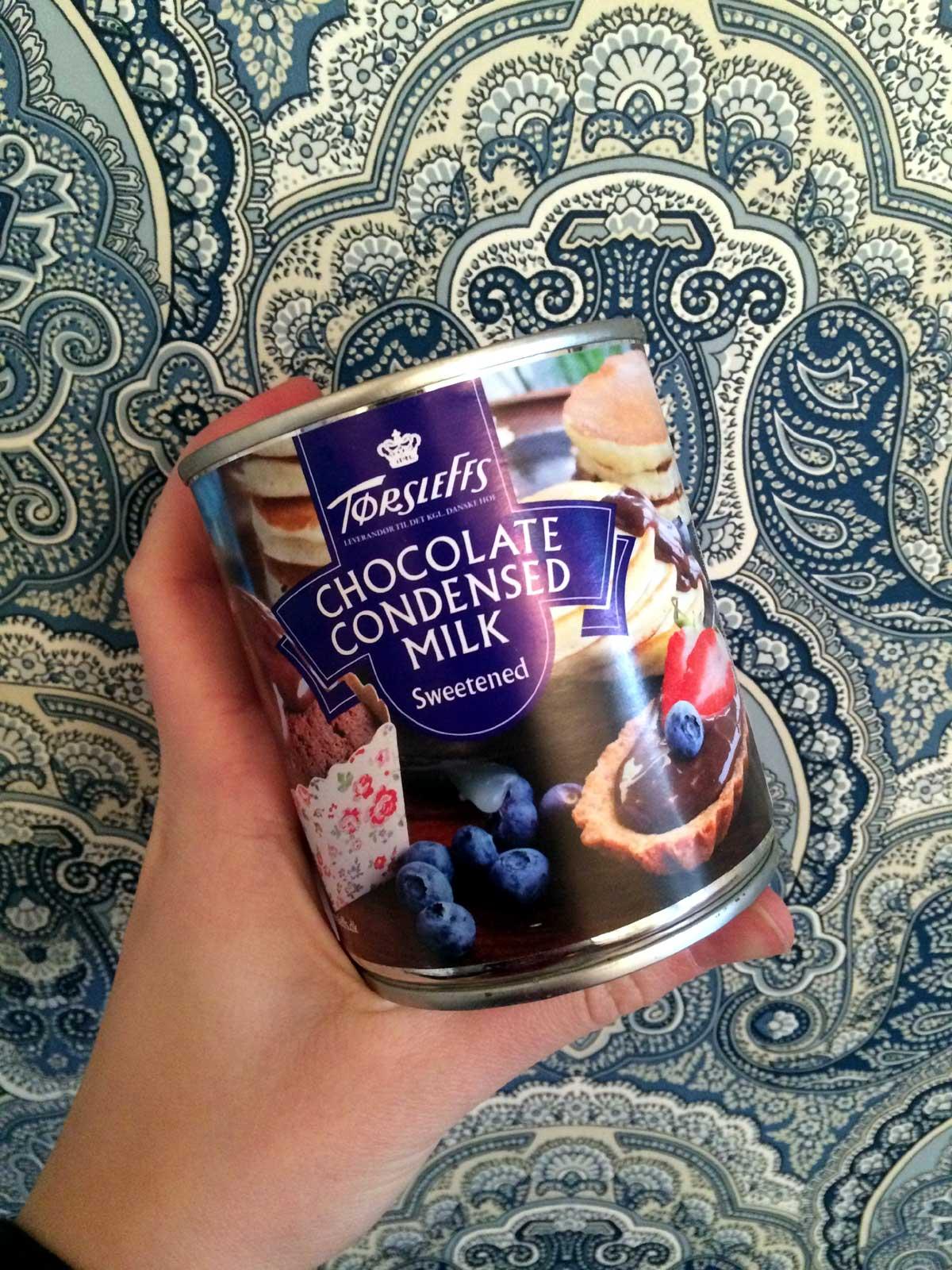 Ett exempel på en kondenserad chokladmjölk.