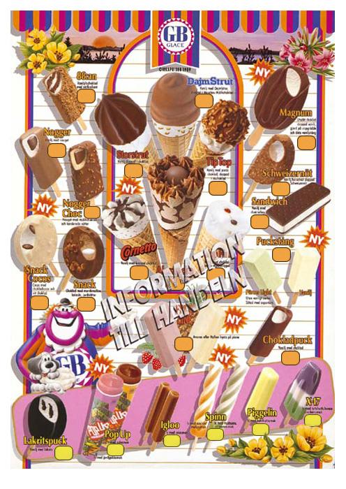 GB Glasskarta - Magnum - 1989