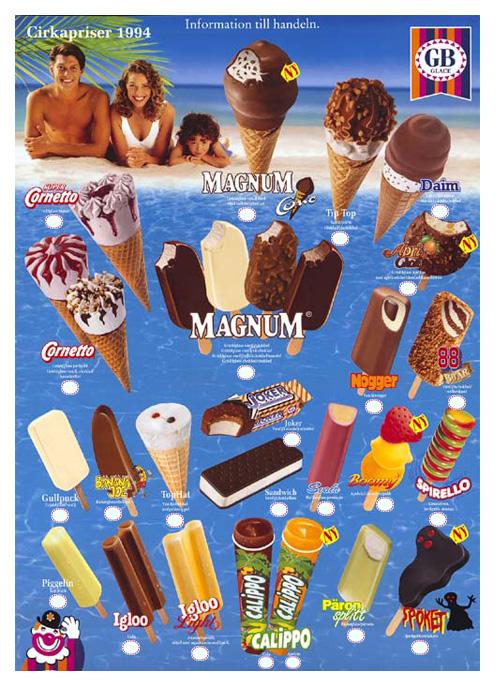 GB Glasskarta - Magnum - 1994