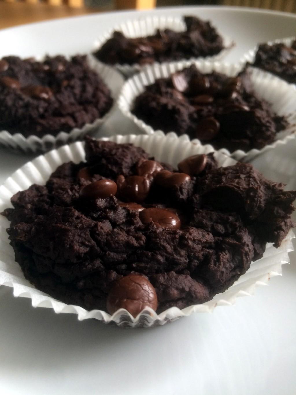 Veganska chocolate chip muffins på svarta bönor