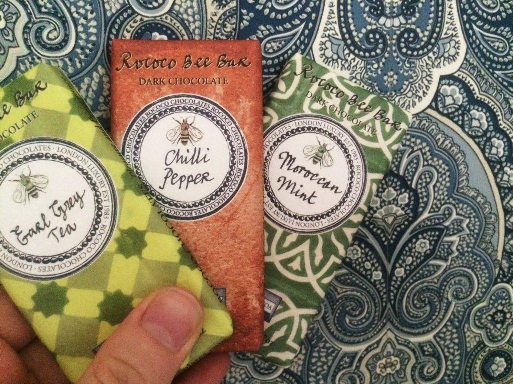 Smaksatta choklader från Rococo: Earl Grey Tea, Chilli Pepper och Moroccan Mint