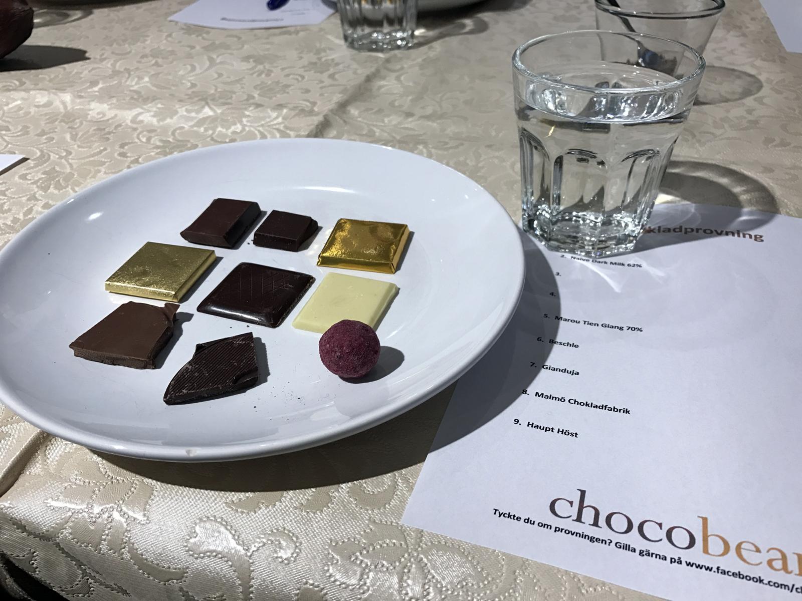 Chokladprovning med Chocobean