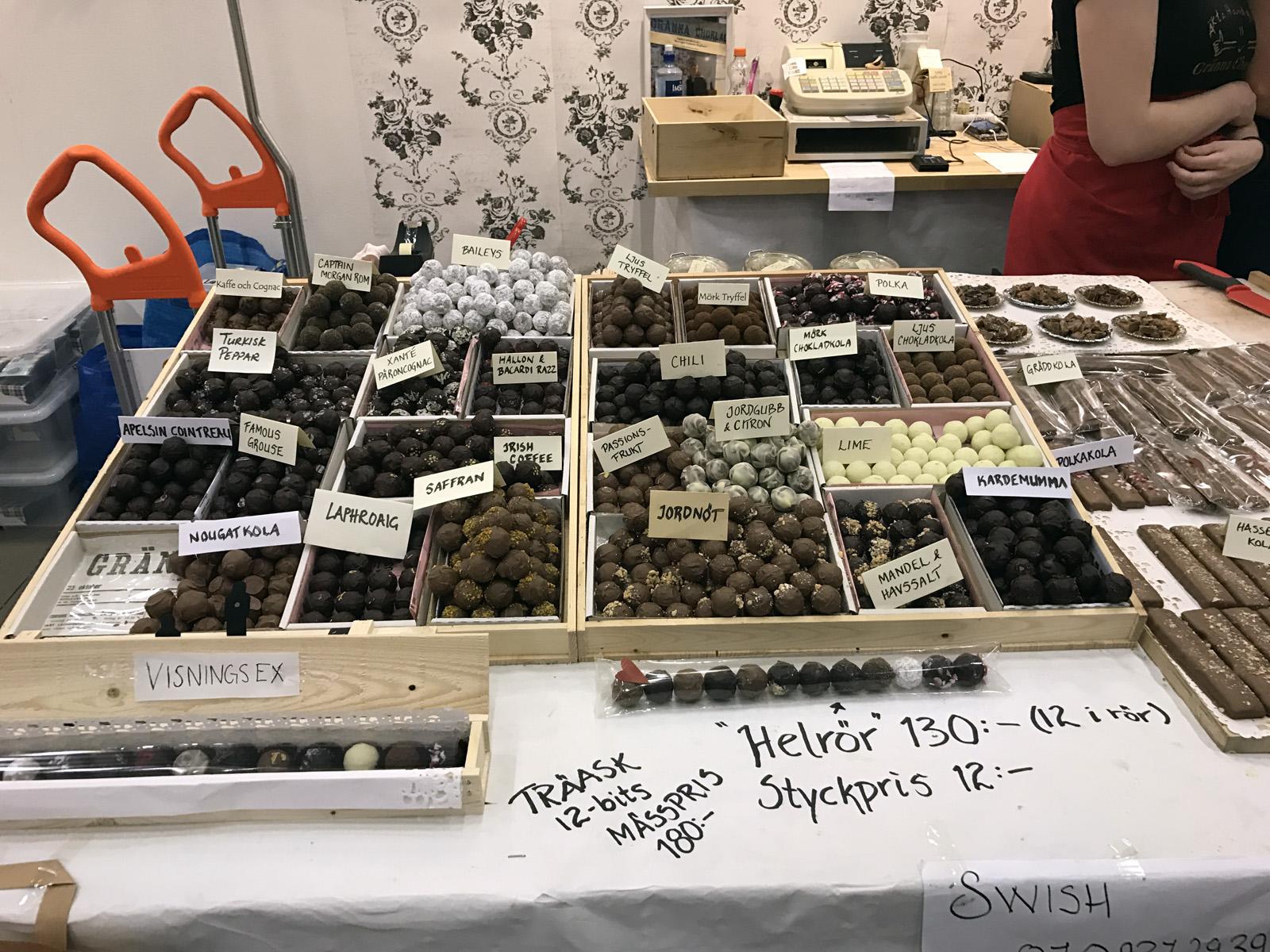Gränna Choklad på Bak- och Chokladfestivalen