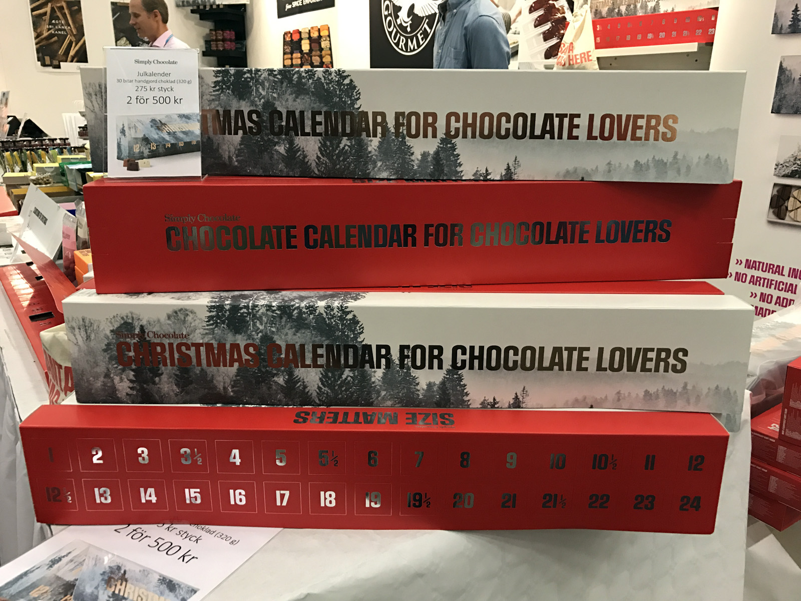 Chokladkalender med lakrits från Simply Chocolate