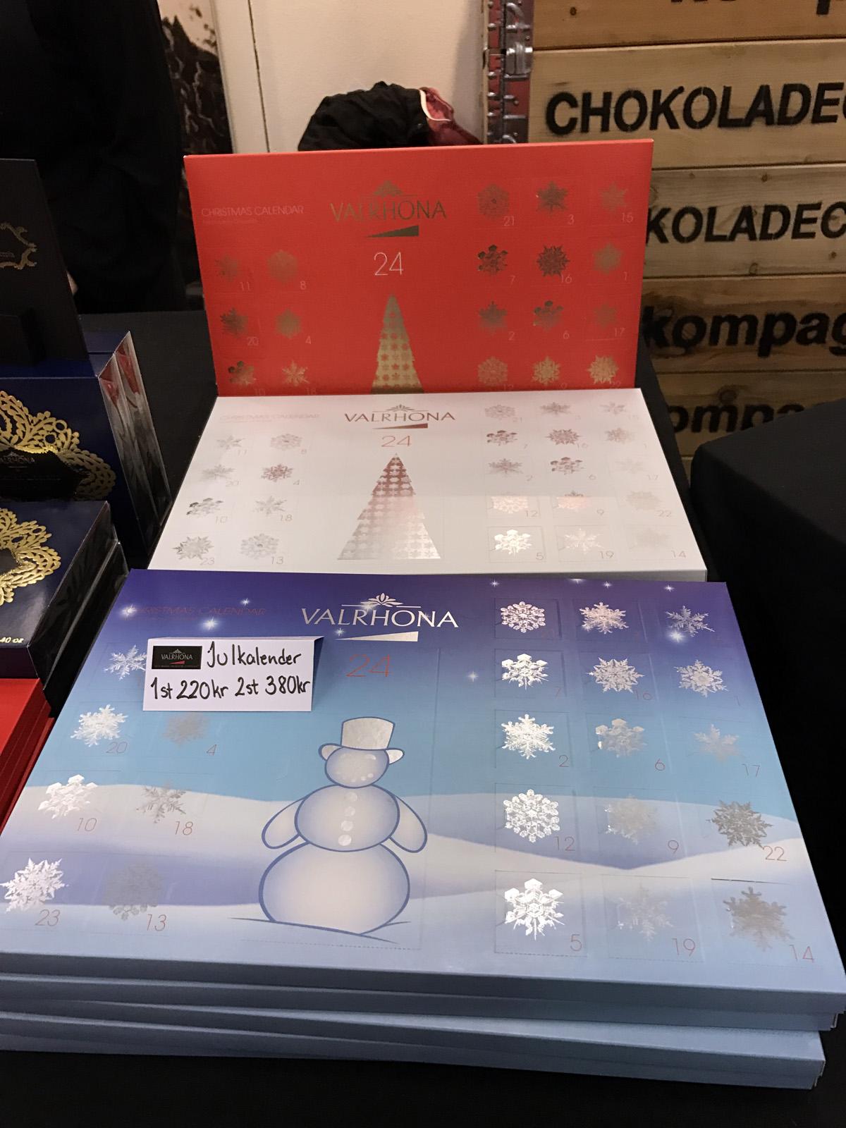 Chokladkalender från Valrhona