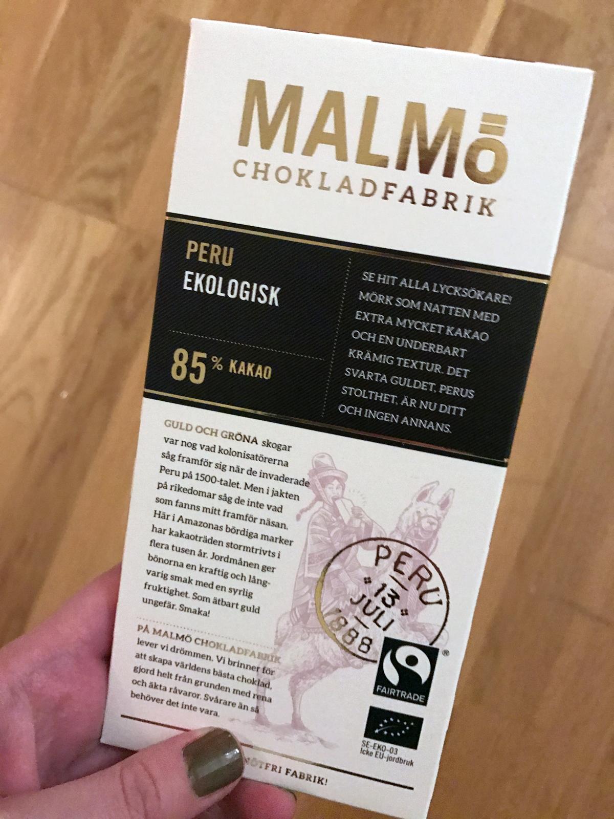 Malmö Chokladfabrik Peru 85%