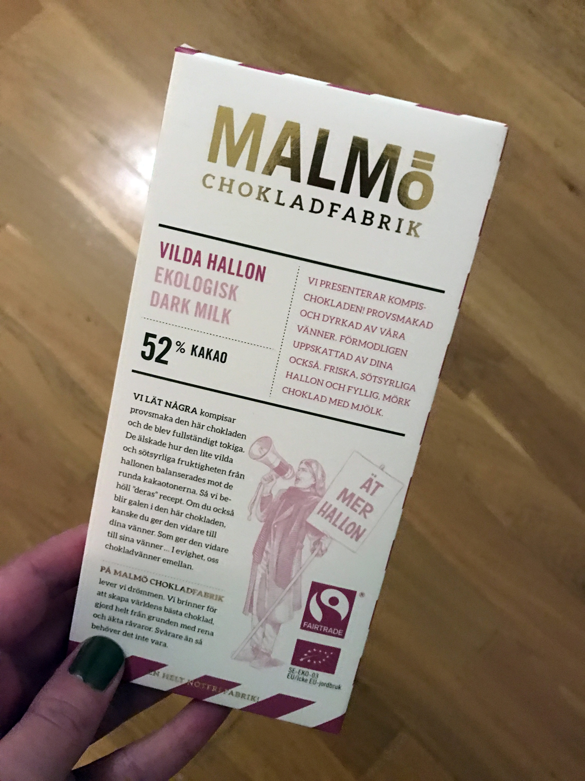 Malmö Chokladfabrik Vilda Hallon