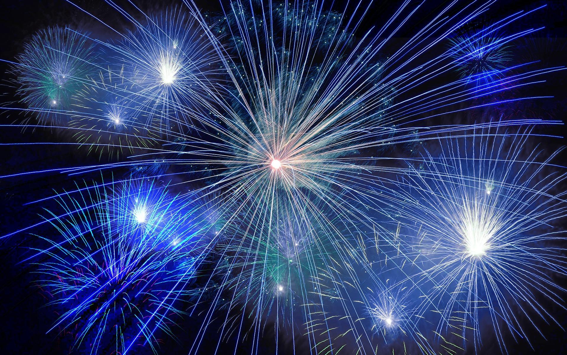 Gott nytt år - fyrverkerier