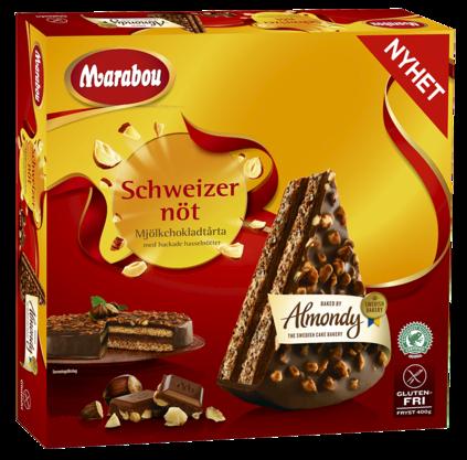 Almondy Chokladtårta Marabou Schweizernöt Produktbild